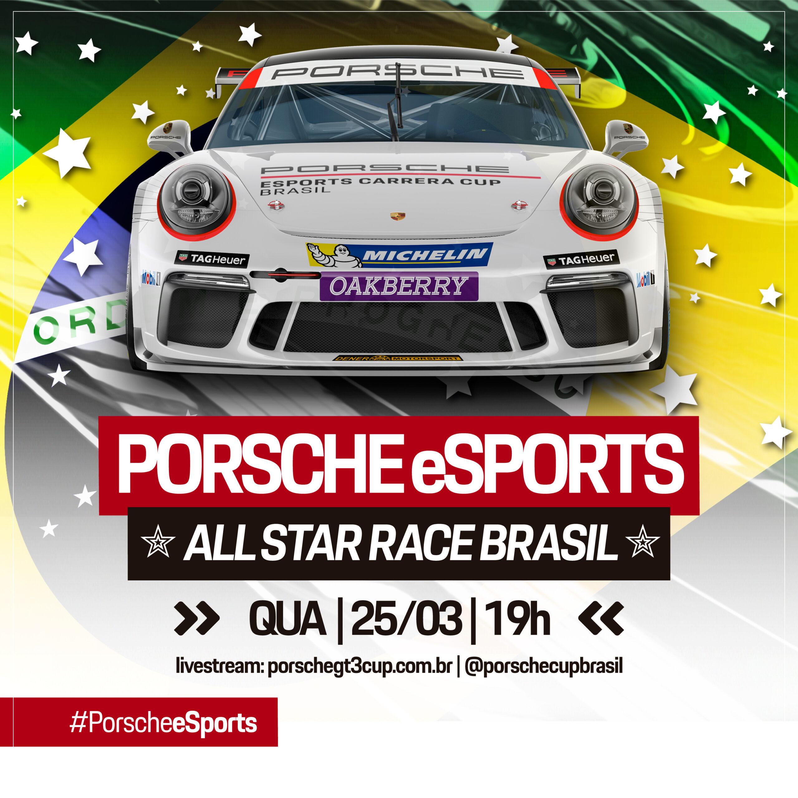eSports | Porsche Cup e Porsche Brasil promoverá a Corrida das Estrelas