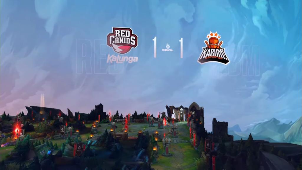 No terceiro jogo, a disputa estava toda por igual no Rift, com RED e KaBuM empatadas em 1 a 1